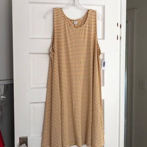 Old navy stripe swing dress sz XXL